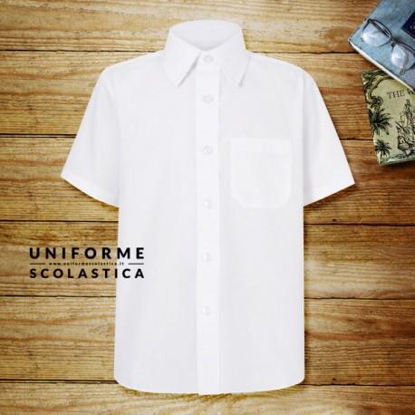 Camicia bianca manica corta - La nostra camicia bianca manica corta unisex è un capo classico, elegante e morbido. Grazie al materiale si stira con estrema semplicità.