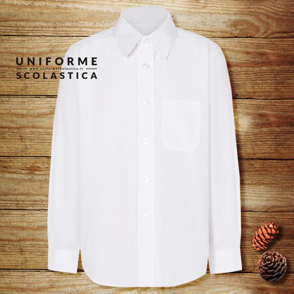 camicia maschio manica lunga scuola - La camicia maschio manica lunga scuola è un capo essenziale per la scuola di tutti i giorni. Facile da lavare ma soprattuto da non stirare quasi.