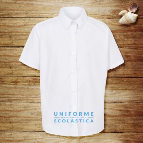 Camicia maniche corte ragazza - La camicia a maniche corte garantisce alle ragazze un dress code curato ed elegante adatto alla divisa scolastica. La manica corta aiuta a stare freschi.