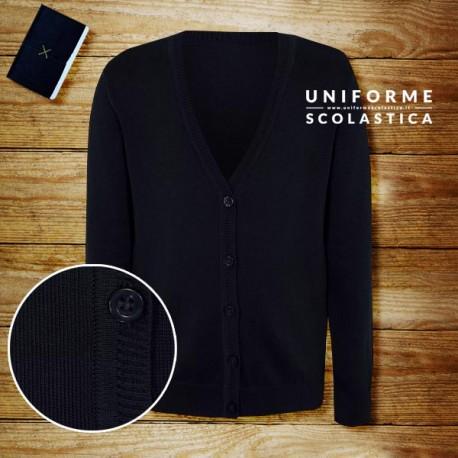 Cardigan cotone - Il cardigan in cotone di uniforme scolastica è stato pensato per l'utilizzo quotidiano nell'ambiente della scuola, 100% cotone.