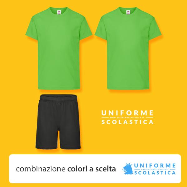 Divisa base summer camp - Divisa base summer camp bambino composta da due magliette bambino, maniche corte, un pantaloncino. Taglia e colore dei capi a scelta.