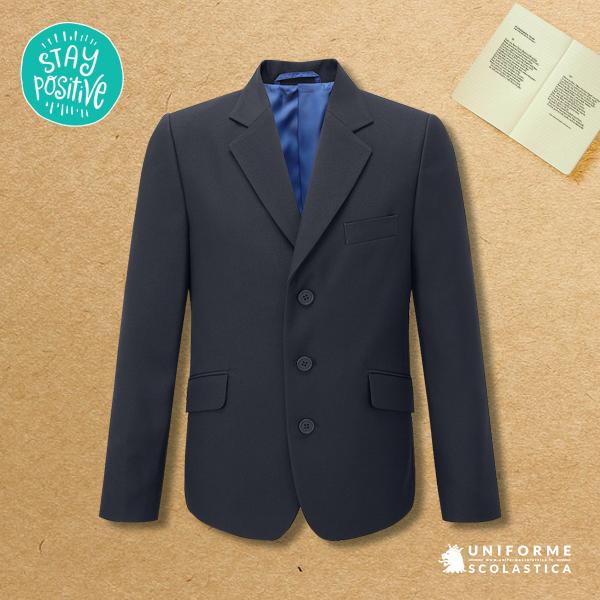 Giacca formale scuola - Giacca formale scuola disponibile nei modelli maschile e femminile. La nostra giacca formale 3 bottoni offre l'eleganza e la praticità che cercate per i vostri studenti. Tessuto twill di poliestere al 100%.
