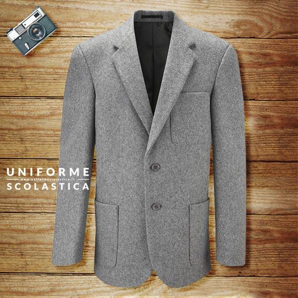 Blazer in lana ragazzo - Blazer 100% lana scuola maschio uniformescolastica ha uno stile dalle linee classiche arricchito da tre grandi tasche.