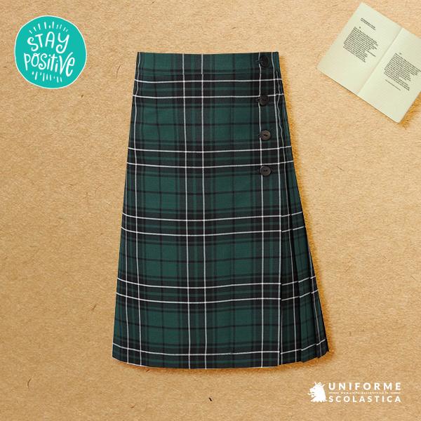 Gonna scozzese tartan scuola - Se volete dare un tocco di scozzese alla vostra scuola allora questa stupenda gonna in tartan vi permetterà di raggiungere l'effetto desiderato. Capo di qualità tinto in filo.