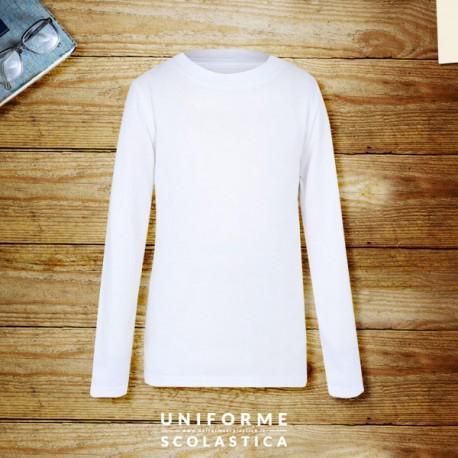 Maglietta manica lunga - La nostra maglietta unisex colore bianca è realizzata in 100% cotone. Un capo casual di qualità ed economico adatto all'uso scolastico.