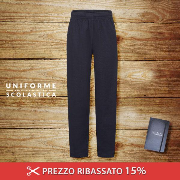Pantaloni in felpa leggera  - Pantaloni in felpa leggera sgarzata con elastico in vita e con cordoncino e tasche laterali. Orli inferiori aperti. Pile interno leggero.