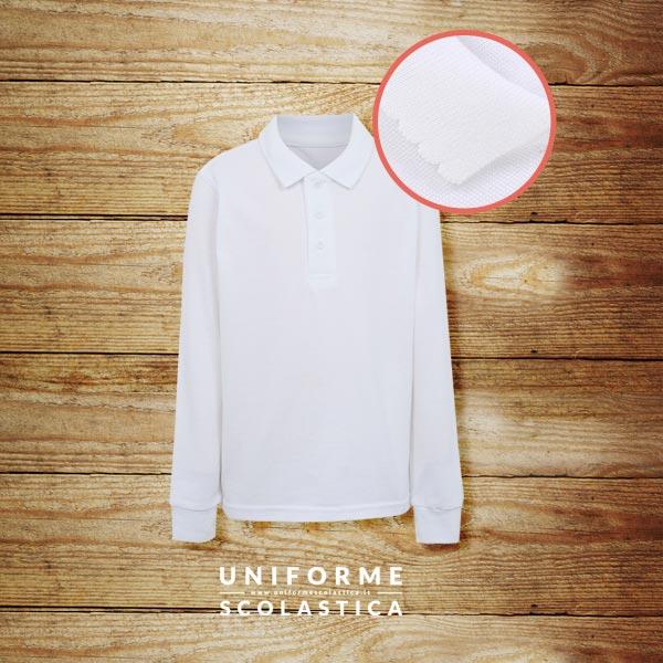 Polo manica lunga ragazza - La nostra polo a manica lunga per ragazza è davvero un prodotto eccezionalmente versatile. Realizzata in cotone, al 100%, traspirante e fresco.