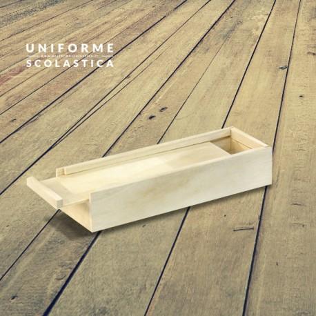 Portapenne in legno - Portapenne in legno per pennarelli, matite, colla, forbici. Una vera e propria scatola del disegno che potete anche decorare con i disegni del vostro piccolo.
