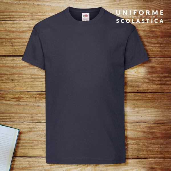 T-shirt navy - T-shirt navy. Kids Original T marca Fruit of the Loom. Lavaggio in lavatrice a 40 gradi. Tiene bene la forma e il colore e ha cuciture resistenti.